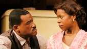 Eric Lenox Abrams as Avery and Roslyn Ruff as Berniece in The Piano Lesson.