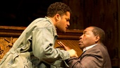 Brandon Dirden as Boy Willie, Chuck Cooper as Wining Boy and Jason Dirden as Lymon in The Piano Lesson.