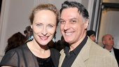 Laila Robins grabs a photo with her real-life love, Spider-Man star Robert Cuccioli.