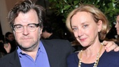 Playwright Kenneth Lonergan congratulate his wife, Sorry cast member J. Smith-Cameron.