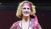 As Miss Hannigan, two-time Tony winner Katie Finneran receives a wave of applause.