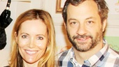 Leslie Mann and Judd Apatow spend a beautiful fall afternoon at the Cort Theatre enjoying their pal Paul Rudd's star performance in Grace.  