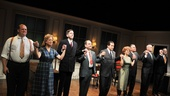 Checkers cast members Joel Marsh Garland, Kelly Coffield Park, Robert Stanton, Lewis J. Stadlen, Anthony LaPaglia, Kathryn Erbe, Kevin O'Rourke, John Ottavino and Mark Shanahan join hands at the curtain call.