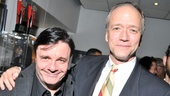 Broadway superstar Nathan Lane greets Checkers playwright Douglas McGrath, who created and wrote Lanes USA Network comedy pilot Local Talent.  