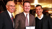 Pittsburgh Mayor Luke Ravenstahl, along with Pittsburgh Cultural Trust CEO Kevin McMahon, proclaims January 1, 2013, Flashdance Day. Director Sergio Trujillo could not be more proud.