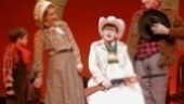 Zac Ballard as Randy, Erin Dilly as Mother, Johnny Rabe as Ralphie and John Bolton as The Old Man in A Christmas Story.