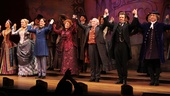 It's a happy opening night for the cast of The Mystery of Edwin Drood as they join hands on opening night at Studio 54.