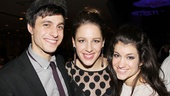 Jessie Mueller shares an op with Into the Woods castmates Gideon Glick and Sarah Stiles.