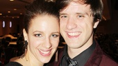 Jessie Mueller and boyfriend Andy Truschinski take a breather from the post-show merriment.