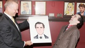 Sardi's managing partner Max Klimavicius unveils Rob McClure's portrait—and the actor is blown away!