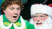 Jordan Gelber as Buddy and Wayne Knight as Santa in Elf.