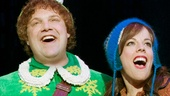 Jordan Gelber as Buddy and Leslie Kritzer as Jovie in Elf.