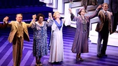 The hardworking stars of the new Broadway musical Scandalous: The Life and Trials of Aimee Semple McPherson take their opening night bow on November 15.