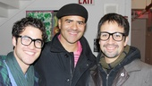 Darren grabs one last Cotton Club photo with In the Heights original cast members Christopher Jackson and Lin-Manuel Miranda. 