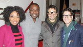 Did Lin-Manuel Miranda inspire Darren to put on his glasses? Tony winners Adriane Lenox and Lin join Henry and Criss for a photo.