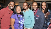 Cotton Club cast members C.K. Edwards, Amber Riley, Christopher Broughton, T. Oliver Reid and La Tanya Hall stop for a quick photo.