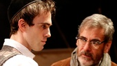 Ari Brand as Asher Lev and Mark Nelson as Jacob Kahn in My Name is Asher Lev.