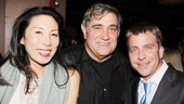 Jodi Long gets some quality time with her Sullivan & Son co-star Dan Lauria and producer Peter Billingsley.
