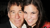Lindsay Mendez gets close to veteran Broadway composer Stephen Schwartz.