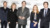 A company photo of director Rob Ashford, Debra Monk, Ciaran Hinds, Scarlett Johansson and Benjamin Walker.