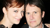 Judy Greer and Josh Hamilton pause for a photo during the opening night party at Gotham Hall.