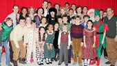 The entire company of A Christmas Story welcomes the divine Joan Collins backstage. It's a Christmas miracle!