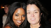The divine Rosie O'Donnell gets chummy with Adrienne Warren, who plays Bring It On's domineering diva Danielle.