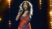 "Heather Headley delivers a powerhouse rendition of ""I Will Always Love You"" at the 2012 Royal Variety Performance."