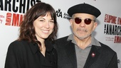 The Anarchist director and playwright David Mamet arrives with his beautiful wife, actress Rebecca Pidgeon.