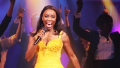 The funs not over yet! Heather Headley dons a yellow party dress for the finale, belting I Wanna Dance With Somebody.