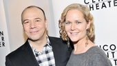 Danny Burstein (Tokio) grabs a photo with his wife, Tony nominee Rebecca Luker.