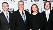 Bare – Opening Night – Brian Clementi – Joe Clementi – Jane Clementi – James
