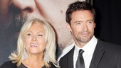 Dapper leading man Hugh Jackman (Jean Valjean) is accompanied by his actress wife, Deborra-Lee Furness.