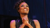 After a thrilling performance, Patina Miller beams at the opening night crowd at A.R.T.