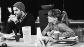 The Glass Menagerie Rehearsal  Zachary Quinto  Celia Keenan-Bolger