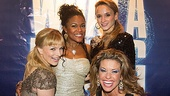 It's Alex and her girls! The four Flashdance girlfriends huddle in for a ladies-only photo on the red carpet. From left to right: Kelly Felthous, DeQuina Moore, Emily Padgett and Rachelle Rak.
