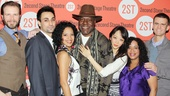 A picture is worth a thousand words! Water By the Spoonful stars Bill Heck, Ryan Shams, Zabryna Guevara, Frankie Faison, Sue Jean Kim, Liza Colon-Zayas and Armando Riesco strike a pose on the red carpet.