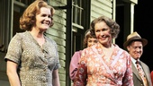 Stage veterans Mare Winningham and Ellen Burstyn share a moment during curtain call.