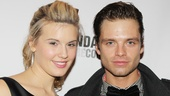 Dashing stars Maggie Grace and Sebastian Stan bring the heat to the red carpet.