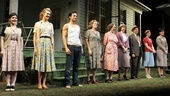 The cast of Picnic gathers for the company bow.