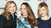 Picnic's schoolteacher trio Cassie Beck, Elizabeth Marvel and Maddie Corman get in close for a photo.