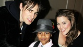 Reeve Carney and Rebecca Faulkenberry help this heroic tyke strike his best web-slinging pose. 