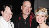What a Lucky Guy! After seeing the lighthearted Gershwin tuner, Tom Hanks meets Nice Work If You Can Get It stars Matthew Broderick and Kelli O'Hara.