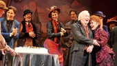 Surprise! Drood cast members wheel out a cake during curtain call in honor of Chita Riveras 80th birthday!