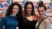 Carlson-Goodman and her castmates, Rachel Rincione and Hannah Shankman, get pretty dirty in Les Miz. The ladies scrub off their Paris grime at the Andy Warhol Museum by a mountain of vintage Brillo boxes.