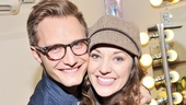 Nathan Johnson, Laura's handsome husband, wouldn't miss her first Broadway performance in the show!