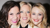 Lindsay Mendez, Sherie Rene Scott and Betsy Wolfe squeeze in some girl talk on the way to the big show.