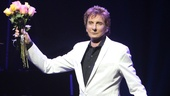 Barry Manilow basks in the audience's applause on opening night of Manilow on Broadway.