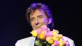 Oh, Barry! Manilow greets the adoring audience on his long-awaited opening night.