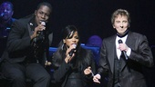 Background vocalists Kye Brackett & Sharon Hendrix join Barry Manilow on stage. 
